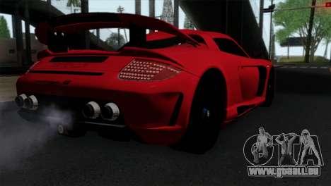 Gemballa Mirage GT v3 Windows Up für GTA San Andreas linke Ansicht
