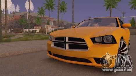 Dodge Charger SRT8 2012 Stock Version pour GTA San Andreas laissé vue