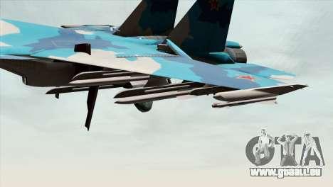 SU-33 Flanker-D Blue Camo pour GTA San Andreas vue de droite