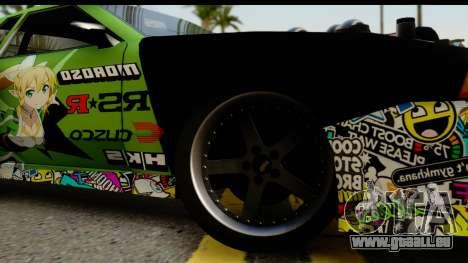 Elegy Leafa SAO Camber pour GTA San Andreas sur la vue arrière gauche