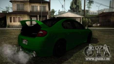 Dodge Neon SRT-4 Custom 2006 pour GTA San Andreas laissé vue