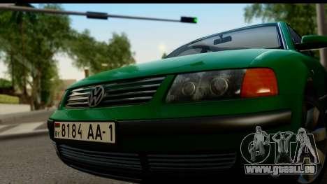 Volkswagen Passat B5 für GTA San Andreas zurück linke Ansicht