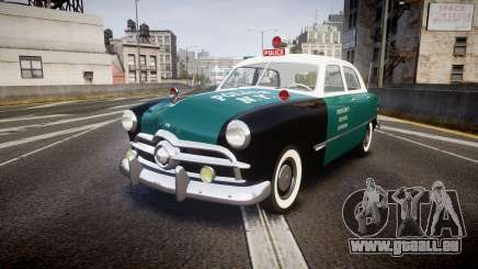 Ford Custom Fordor 1949 New York Police pour GTA 4