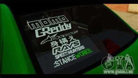 Dacia Logan Stance für GTA San Andreas Rückansicht