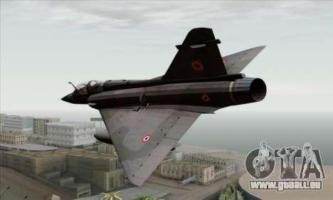 Dassault Mirage 2000-N SAM pour GTA San Andreas laissé vue