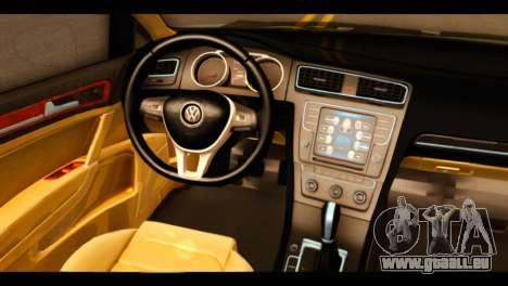 Volkswagen Golf Mk7 2014 für GTA San Andreas rechten Ansicht
