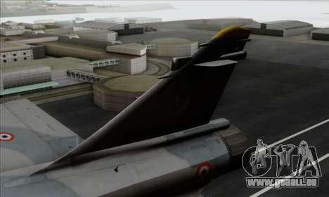 Dassault Mirage 2000-5 ACAH für GTA San Andreas zurück linke Ansicht