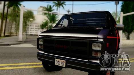 GMC Vandura G-1500 Payday 2 für GTA San Andreas zurück linke Ansicht