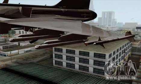 JAS-39 Gripen NG ACAH pour GTA San Andreas vue de droite