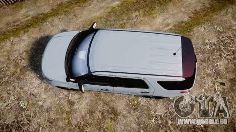 Ford Explorer Police Interceptor 2013 [ELS] für GTA 4 rechte Ansicht