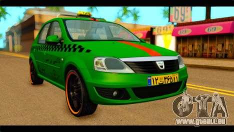 Dacia Logan Iranian Taxi für GTA San Andreas