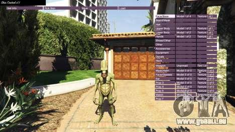 GTA 5 Skin Control v1.1 zweite Screenshot