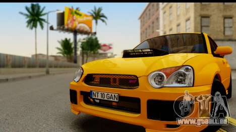 Subaru Impreza WRX STI 2005 Romanian Edition pour GTA San Andreas sur la vue arrière gauche