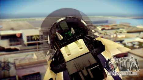 FA-18D Hornet RCAF für GTA San Andreas Rückansicht