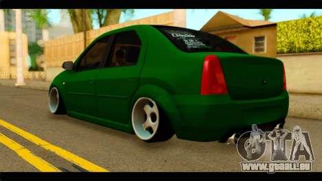 Dacia Logan Stance pour GTA San Andreas laissé vue