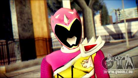 Power Rangers Kyoryu Pink Skin für GTA San Andreas dritten Screenshot