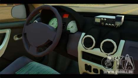Dacia Logan Iranian Taxi für GTA San Andreas rechten Ansicht