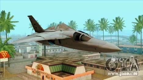 General Dynamics F-111 Aardvark für GTA San Andreas Rückansicht