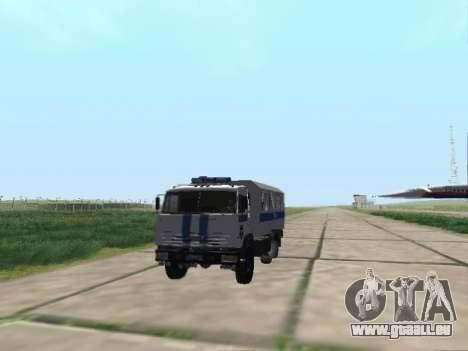 KAMAZ 43114 AUMONT pour GTA San Andreas sur la vue arrière gauche