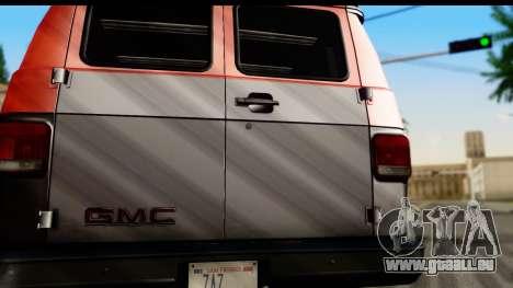 GMC Vandura G-1500 Payday 2 für GTA San Andreas rechten Ansicht