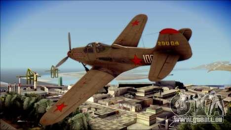 Pokryshkin P-39N Airacobra pour GTA San Andreas laissé vue