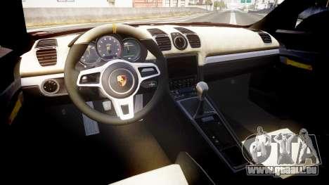 Porsche Cayman GT4 2015 für GTA 4 Rückansicht