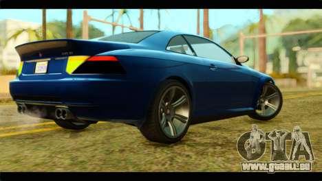 GTA 5 Ubermacht Zion XS pour GTA San Andreas laissé vue