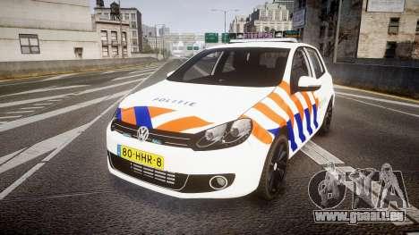 Volkswagen Golf Mk6 Dutch Police [ELS] pour GTA 4