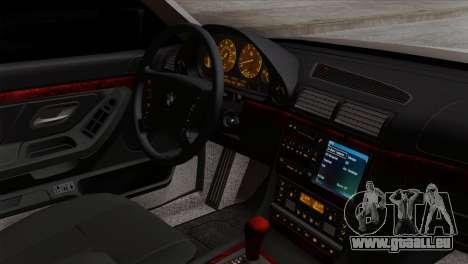 BMW 750iL E38 Romanian Edition pour GTA San Andreas vue de droite