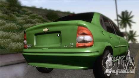 Chevrolet Corsa Classic 2009 pour GTA San Andreas laissé vue