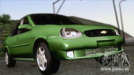 Chevrolet Corsa Classic 2009 pour GTA San Andreas vue arrière