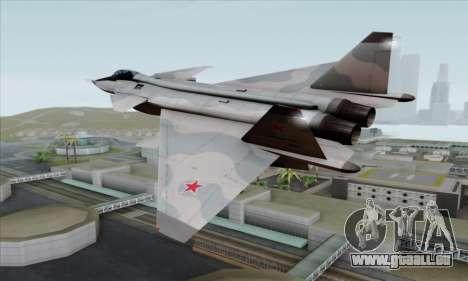 MIG 1.44 Flatpack Russian Air Force für GTA San Andreas linke Ansicht