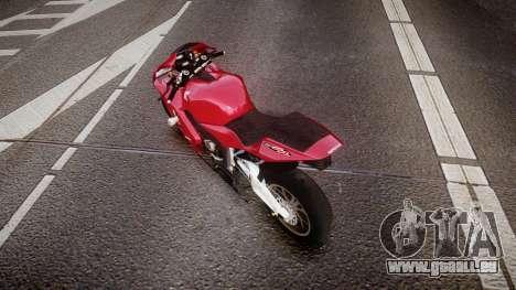 Honda CBR600RR pour GTA 4 Vue arrière de la gauche