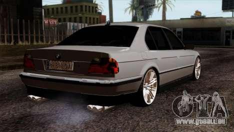 BMW 750iL E38 Romanian Edition pour GTA San Andreas laissé vue