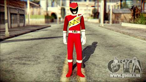 Power Rangers Kyoryu Red Skin pour GTA San Andreas