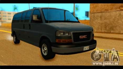 GMC Savana 3500 Passenger 2013 pour GTA San Andreas