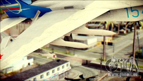 MIG-29 Fulcrum Reskin pour GTA San Andreas vue de droite