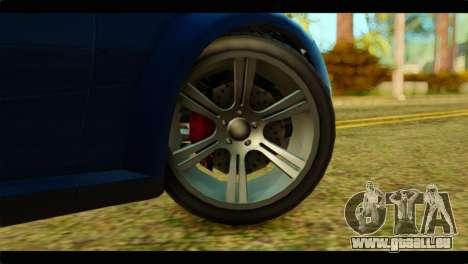 GTA 5 Ubermacht Zion XS pour GTA San Andreas sur la vue arrière gauche