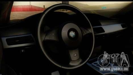 BMW M5 E60 Stanced pour GTA San Andreas vue arrière