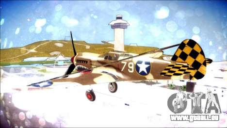 P-40E 325th Fighter Group für GTA San Andreas linke Ansicht