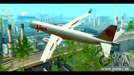 Embraer 190 Lion Air für GTA San Andreas linke Ansicht