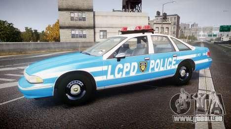 Chevrolet Caprice 1994 LCPD Patrol [ELS] für GTA 4 linke Ansicht