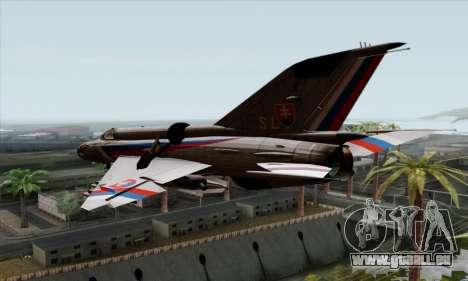 MIG-21MF Slovak Air Force SLP für GTA San Andreas linke Ansicht