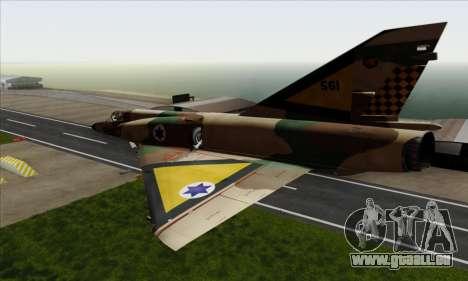 Dassault Mirage III AFI pour GTA San Andreas laissé vue