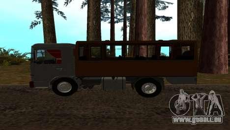 Roman Bus Edition für GTA San Andreas linke Ansicht