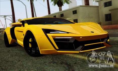 Lykan Hypersport 2014 Livery Pack 2 für GTA San Andreas