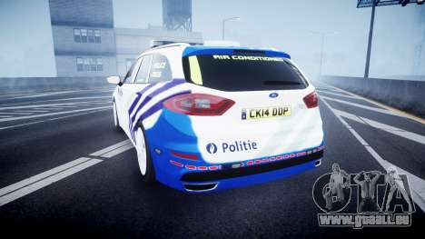 Ford Fusion Estate Belgian Police [ELS] Dog Unit für GTA 4 hinten links Ansicht