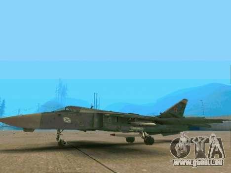 SU-24MR für GTA San Andreas zurück linke Ansicht