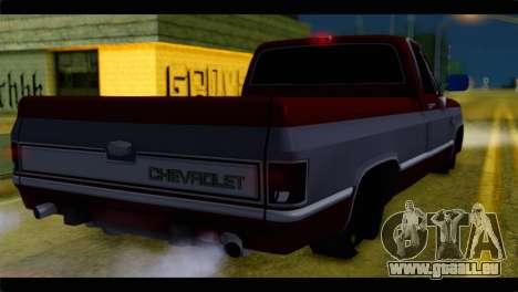 Chevrolet C10 Low pour GTA San Andreas laissé vue