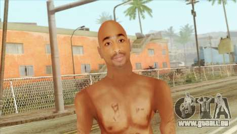 Tupac Shakur Skin v3 pour GTA San Andreas troisième écran
